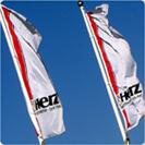 Flagi z logo firmy Herz